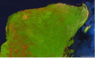 Punto de impacto: Imágenes de Proba-V de la península de Yucatán