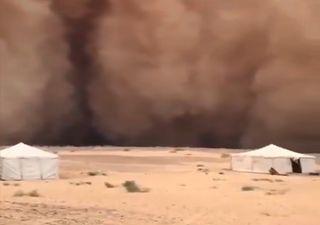 Parece ciencia ficción: los haboobs barren Arabia Saudí