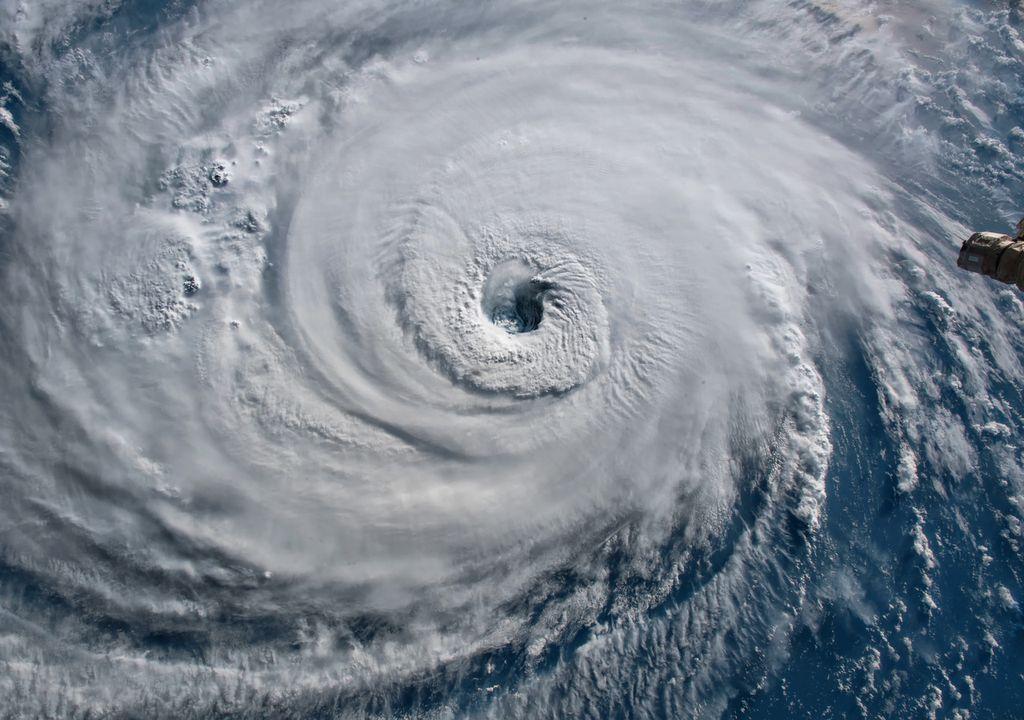 Image de l'ouragan Florence prise par les caméras de la Station spatiale en 2018.