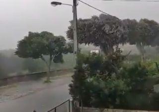 Queda de granizo e vento forte em Portugal: as últimas imagens!