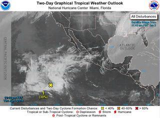 Raro y posible ciclón tropical fuera de temporada en el Pacifico Norte Oriental