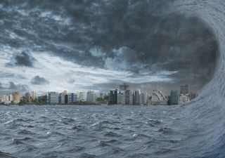 O desenvolvimento da defesa contra um tsunami