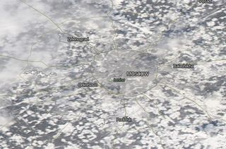 Récord de nieve en Moscú