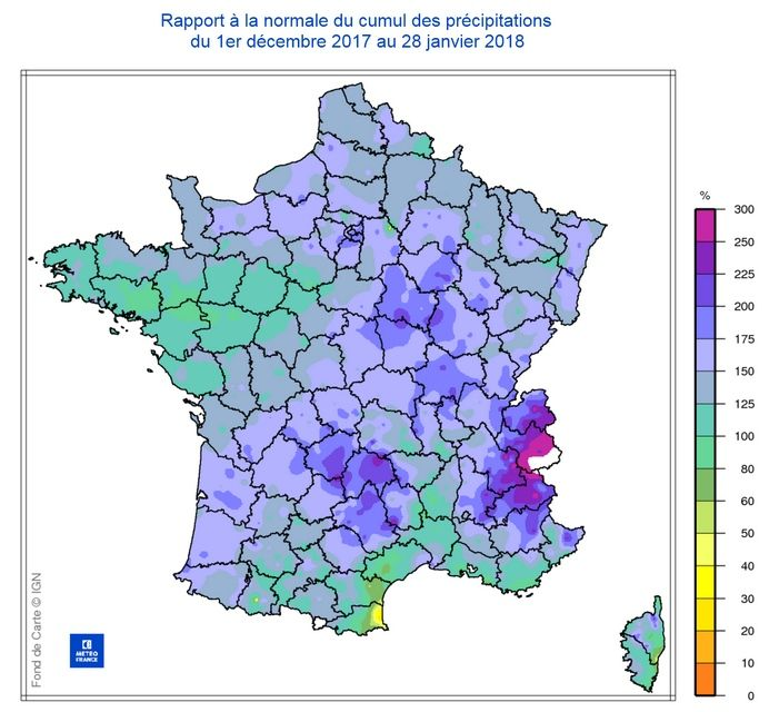 Record De Precipitación Acumulada Desde Diciembre De 2017 En Francia