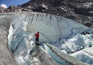 Récord en la pérdida de masa de hielo en los Alpes Suizos