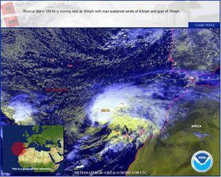Recordando a la tormenta tropical Delta