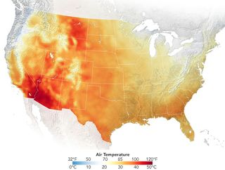 Récords de temperaturas por ola de calor en EE.UU. continentales