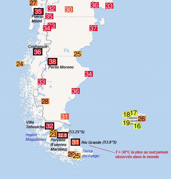 Récords Históricos De Temperatura En El Extremo Sur De De Sudamérica