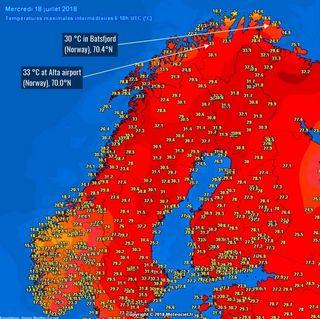 Récords térmicos e históricos de julio 2018 en Finlandia