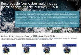 Recursos de formación multilingües para los satélites de la serie GOES-R