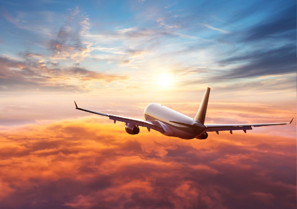 Aeronave em voo