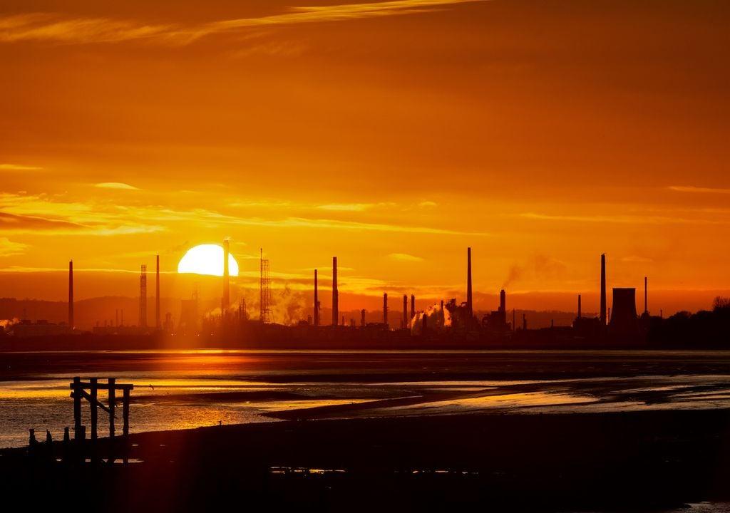 UK oil refinery.