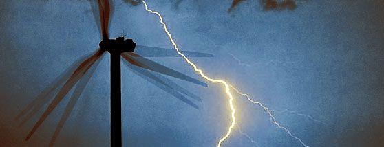 Relación Entre El Movimiento De Turbinas Eólicas Y La Generación De Rayos