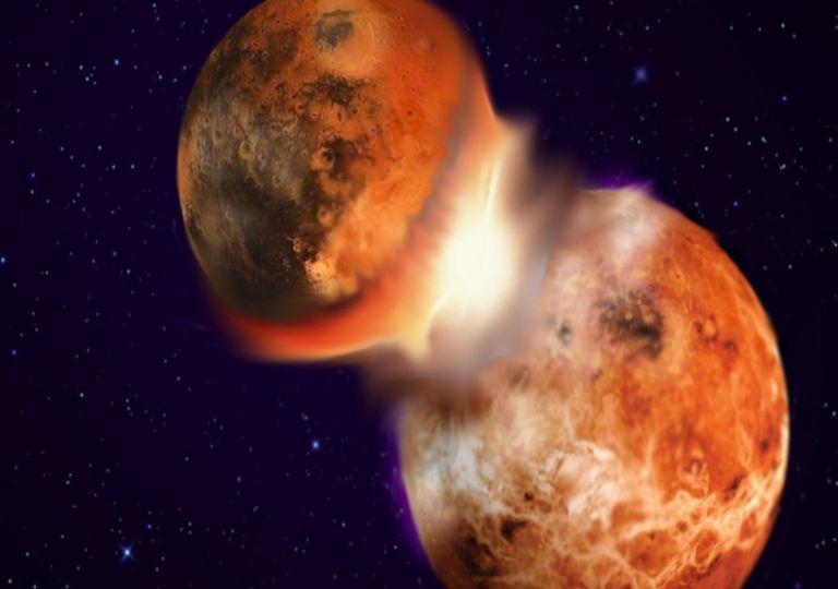 Theia; Terra; Lua;