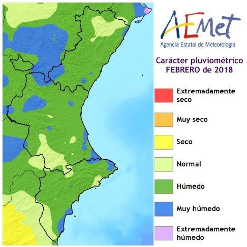 Resumen Climático Del Mes De Febrero De 2018 En La Comunidad Valenciana: Húmedo Y Muy Frío