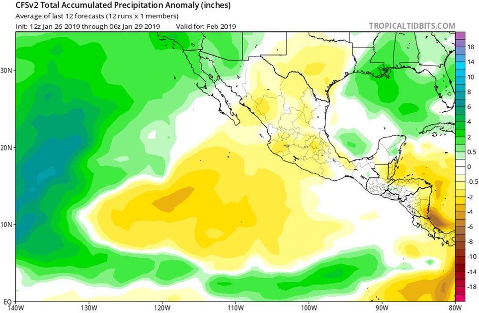 Modelo CFSv2, precipitaciones