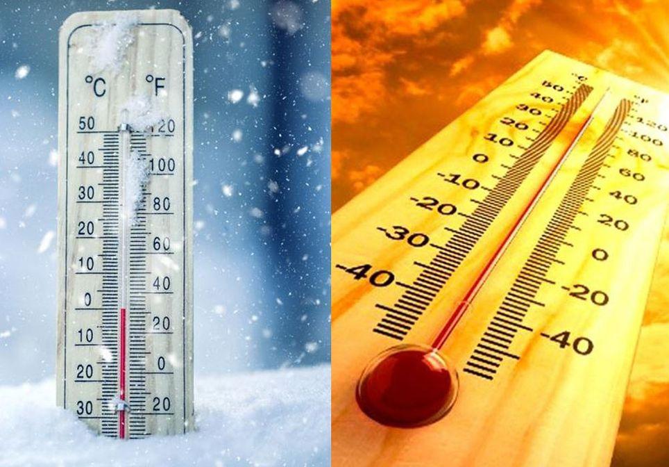 Calor y frío en febrero