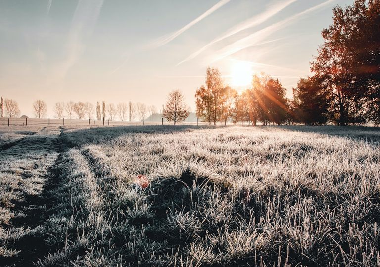 A dry and frosty morning on Christmas Morning across southern Britain