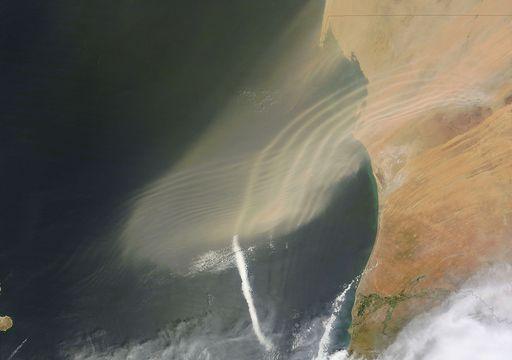 Un satélite capta un raro registro de ondas de gravedad atmosférica