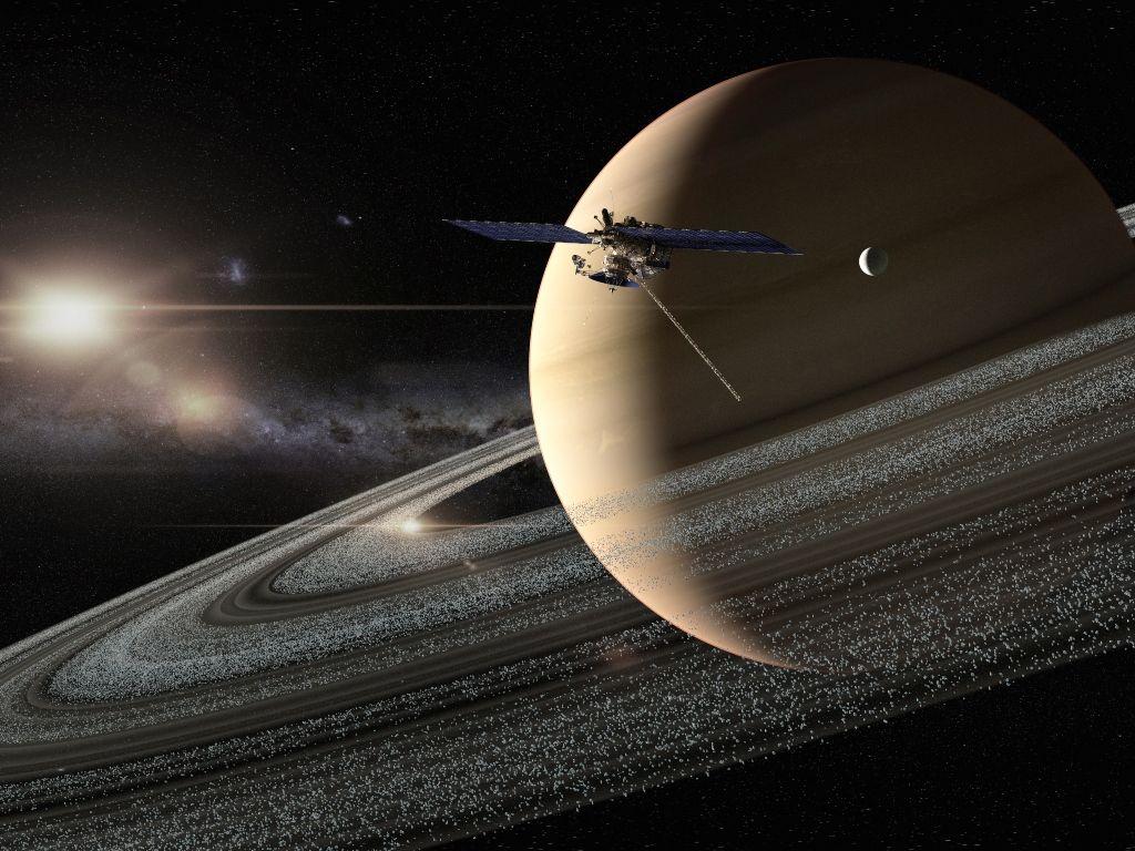 Saturno satélites lunas Júpiter