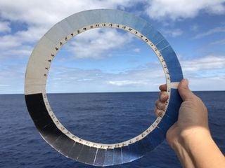 Saussures Cyanometer: Blaue Himmelsfarbe und Luftfeuchtigkeit