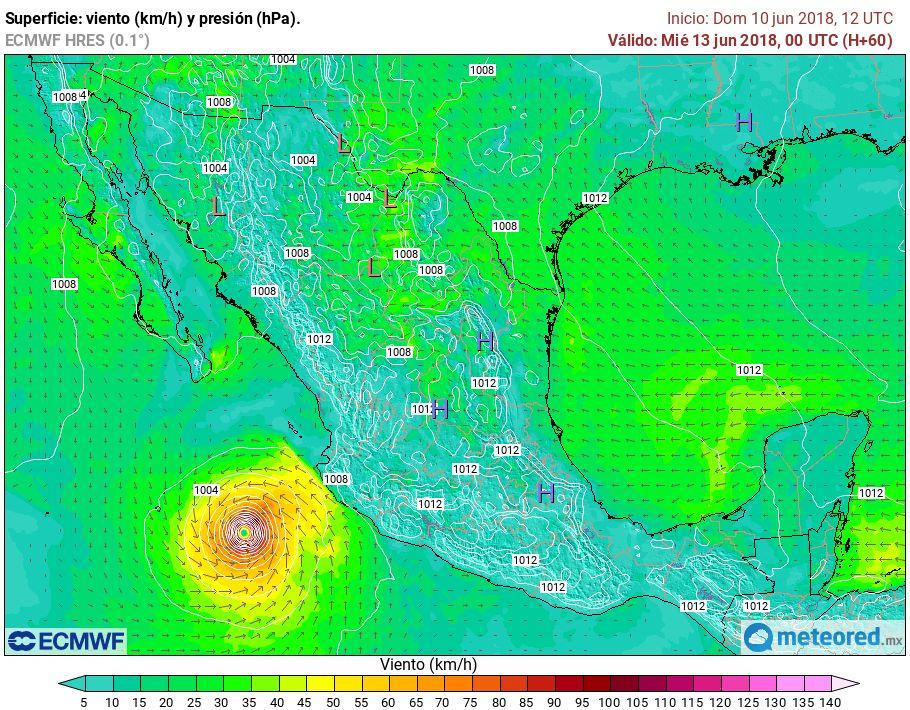 Huracán Bud se intensifica y eleva a categoría 4