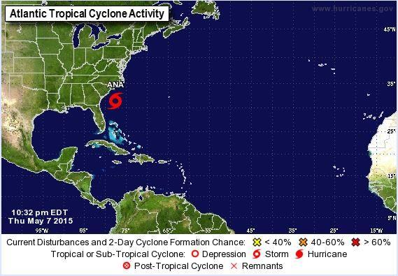 Se Forma Ana, La Primera Tormenta Tropical