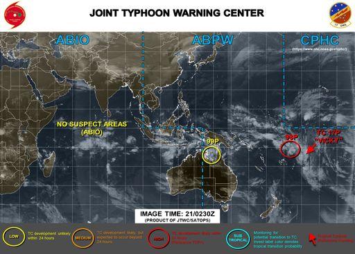 Se forma el ciclón tropical 17P o Vicky