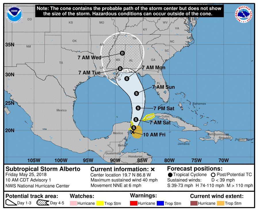Se forma el primer ciclón de la temporada en el Atlántico