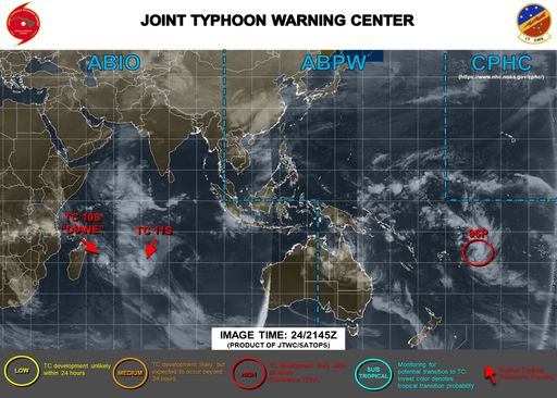 Se forman dos ciclones tropicales nuevos y un Invest