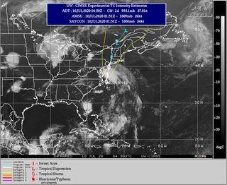 Se formó la tormenta tropical Fay en la costa este americana