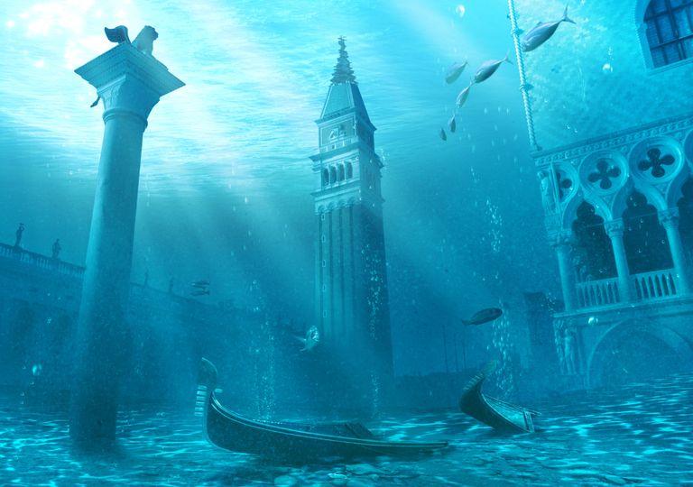 Veneza Itália submersa alterações climáticas