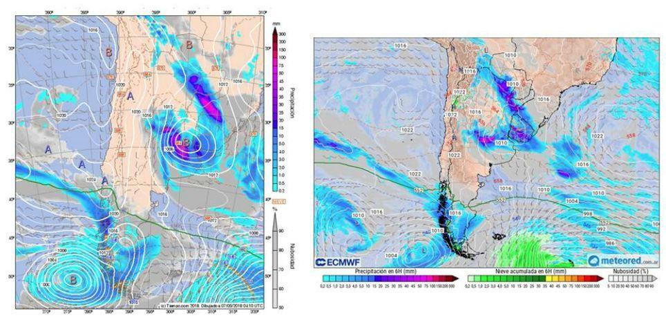 Ciclogénesis Argentina lluvias
