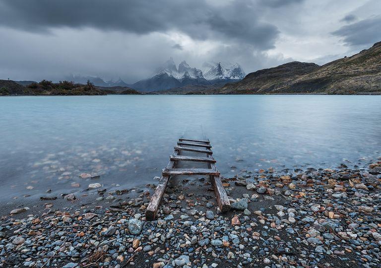 Lago en Patagonia Chile Torres del Paine