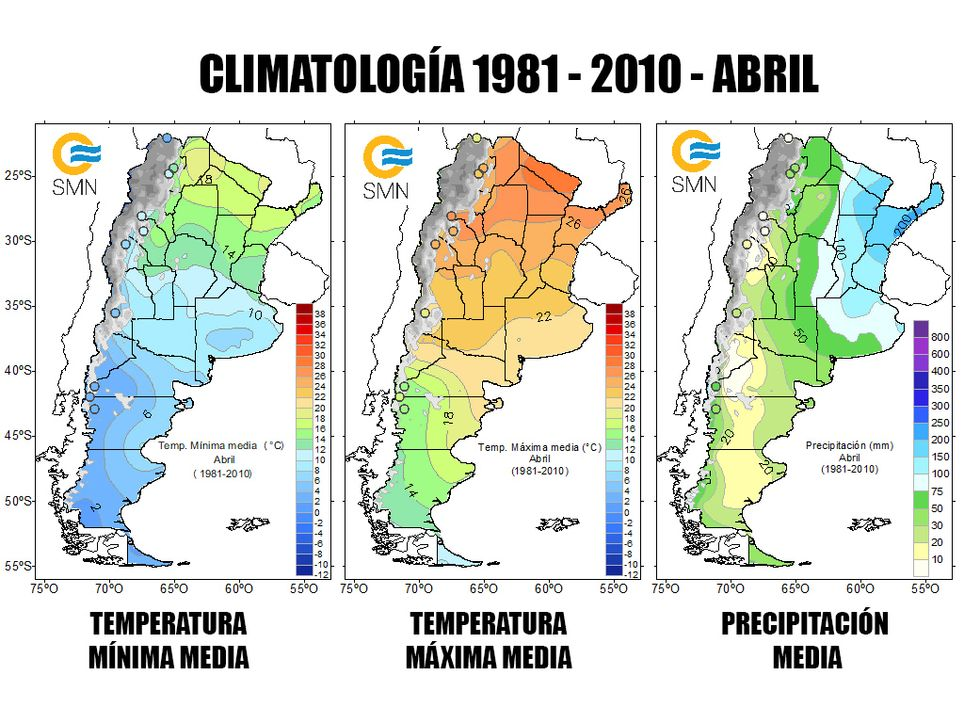 Climatología Abril Argentina