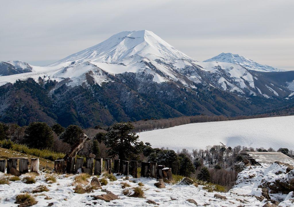 Volcán Lonquimay; sur de Chile