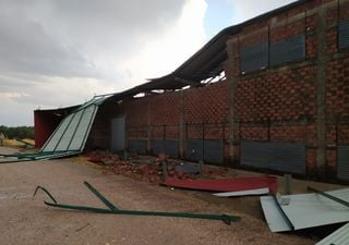 Posible tornado en Cáceres y pedrisco, así fueron ayer las tormentas