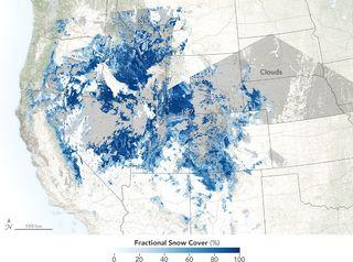 Sequía de nieve en las montañas Rocosas