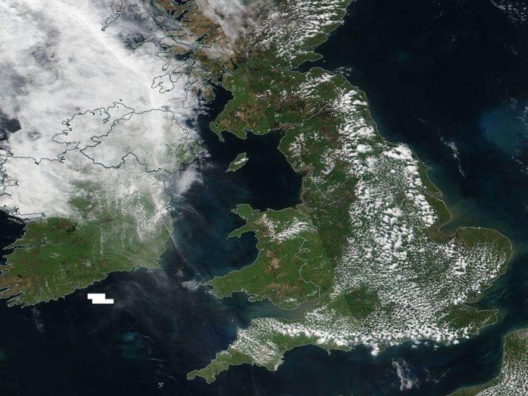 UK satelllite image