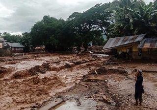 Severas inundaciones en Indonesia y Timor Oriental