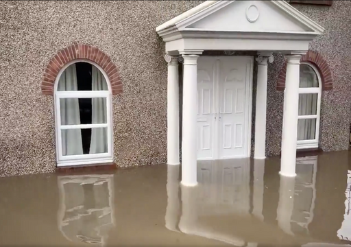 Shocking video shows village of Fishlake under water