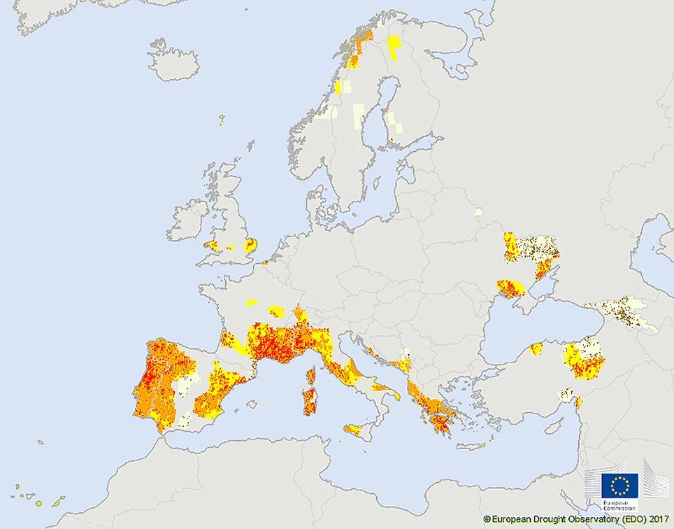 siccità europa