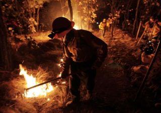 Continúan incendios forestales alrededor del país