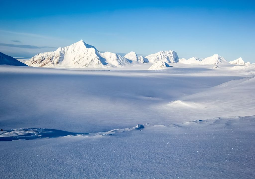 Areas of the earth covered by snow and ice are shrinking