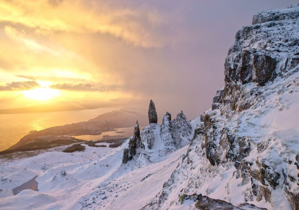 Wintry snow showers and hail are forecast in Scotland.