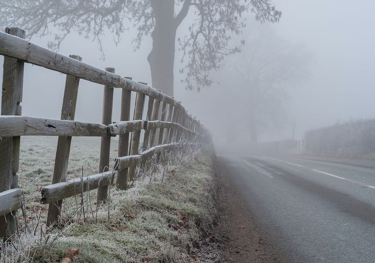 Freezing fog and frost hit parts of the UK over the weekend before more weather warnings were announced.