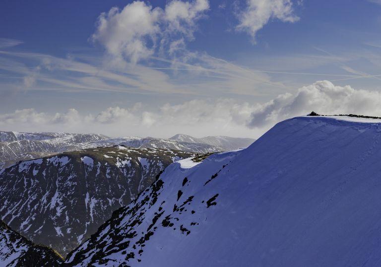 Lake District snow