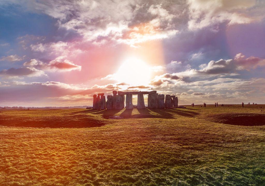 Stonehenge; Reino Unido; solstício de verão