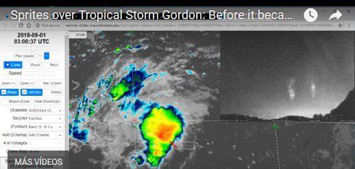 Sprites Sobre La Tormenta Tropical Gordon