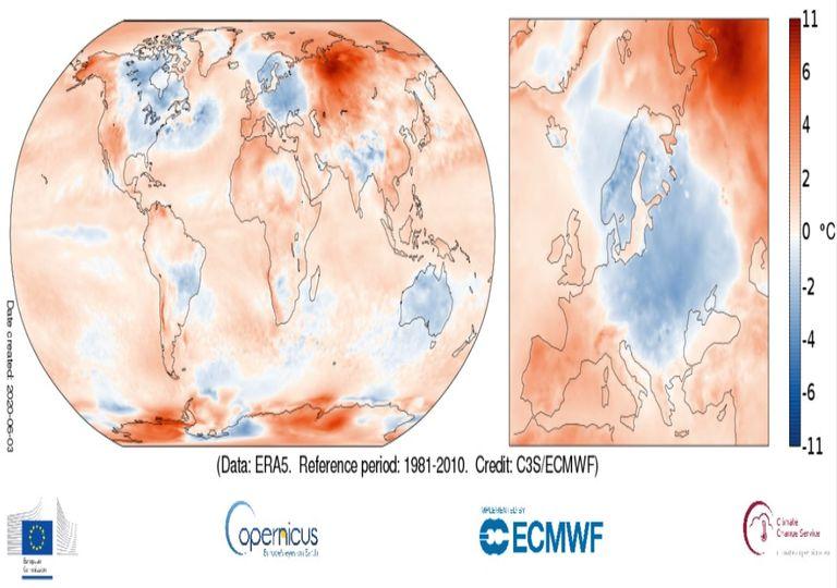 imagem modelo ECMWF Copernicus